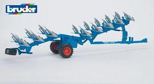 Bruder 02250 LEMKEN Aufsattel-Drehpflug Vari-Titan Anbaugerät Traktor 2250 Neu