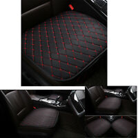 PU Leather Auto Car Front Seat Covers Universal Cushion Pad Mat Black +Red Line
