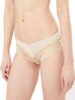 New M&S Size 6,8,10,12,18,20 Almond Louisa Lace Brazilian Knickers (b8)