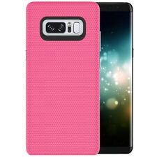 Tuff-Luv Dual layer Anti-slip case for Samsung Galaxy Note 8 Smartphone - Pink