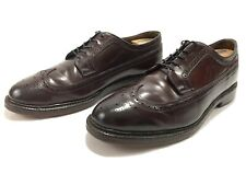 Vtg Nettleton Shell Cordovan Leather Borgue Longwing Wingtip Shoes Mens 11.5 D