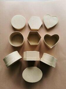 7 Paper Mache Boxes Crafts - set