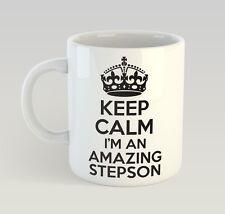Keep Calm I'M An Amazing Stepson Mug Funny Birthday Novelty Gift Step Son