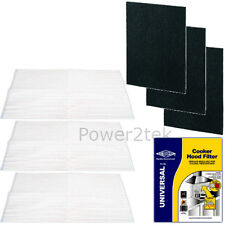 3 x Universal Cooker Hood Grease & Charcoal Filters for Neff Fan Extractor Vent