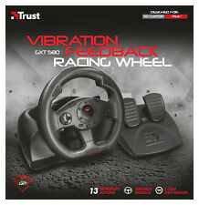 TRUST 21414 GXT 580 VIBRATION FEEDBACK RACING WHEEL & PEDALS FOR PC & SONY PS3