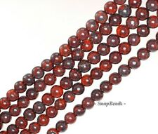 4-5MM BRECCIATED JASPER GEMSTONE BROWN ROUND LOOSE BEADS 15""