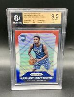 ❤️2015 Karl Anthony Towns Rookie Prizm Refractor Red White Blue Gem Mint BGS 9.5