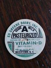 Ed Greene Dairy, INC Milk Bottle Cap. Watertown, N.Y.
