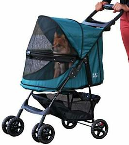 Pet Gear No-Zip Happy Trails Pet Stroller for Cats/Dogs Zipperless Entry Easy...