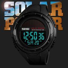 SKMEI Waterproof Sport Army Alarm Date Analog Digital Black Smart Wrist Watch