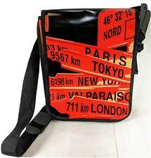 Nomad Cross Body Messenger Laptop Bag Orange Black Water Resistant Padded