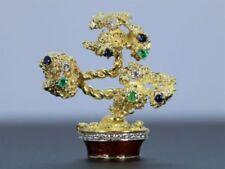 Broches y pines de joyería de oro amarillo zafiro