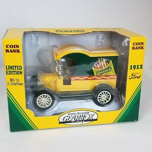 Crayola Truck Coin Bank Vtg 1998 Gearbox Limited Edition 1912 Ford