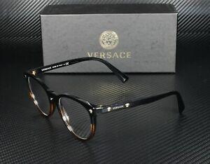 VERSACE VE3257 5117 Black Havana Demo Lens 51 mm Unisex Eyeglasses