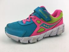Saucony Vortex A/C Youth Sneakers, Girls' - Wide Size 12.5 W, Pink/Blue/Yellow