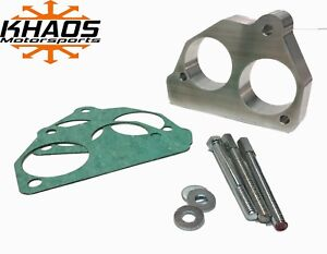 """Khaos Motorsports Smooth Big Bore 2"""" Throttle Body Spacer 87-95 Chevy GMC"""