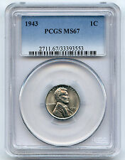 1943 Lincoln Cent PCGS MS 67 Super Nice