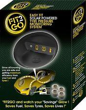 Fit2Go Solar Powered Tyre Pressure Monitoring for car, van, trailer & caravan