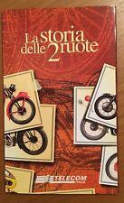 """Folder con 8 tessere telefoniche nuove  """"La storia delle 2 ruote"""" Ottimo !"""
