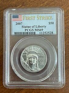 2007 American Platinum Eagle 1/2 oz $50 - FIRST STRIKE PCGS MS69
