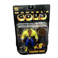 NEW MARVELS GOLD LUKE CAGE POWER MAN ACTION FIGURE VINTAGE 1997 1 OF 10,000