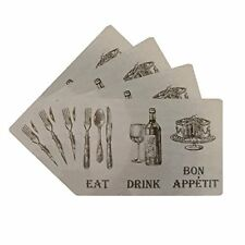 Benson Mills Eat Drink Cork Placemat, Linen, (Set of 4) FREE2DAYSHIP TAXFREE