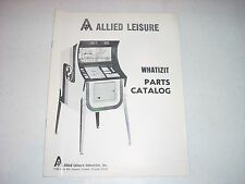 Allied Leasure WHATIZIT Parts Catalog 1972 10 pages VG+