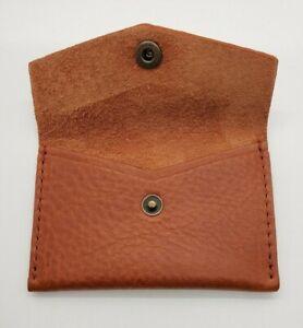Portland Leather Goods Mini Envelope Wallet Brand New Nutmeg