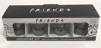 Friends TV Series Show Set of 4 Glassware Shot Glasses 1.5oz WB NIB Collectible