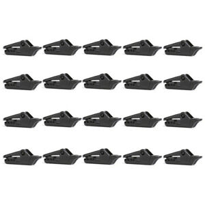 20 PCS Awning Tarp Clips Set Black Buckle Camping Tool  Tent Clamp Heavy Duty