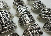 20pcs Vintage Tibet Silver Men's Rings Wholesale Lots Jewelry New