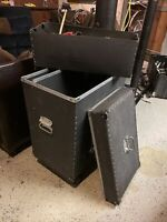 Fiber Humes & Berg Percussion Trap Case With Casters Great Condition