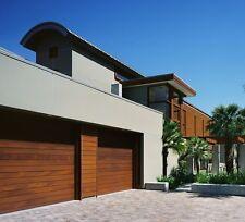 Emilio Design - [16' x 7'] Modern Style Custom Solid Cedar Wood Garage Door