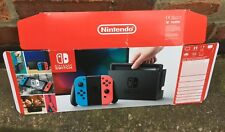 NINTENDO SWITCH *EMPTY BOX* Neon Red/Blue Dummy Display Box Collectors