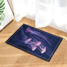 Night Sky Blue Jellyfish Ocean Life Non-slip Bathroom Bath Mat Carpet Door Rugs