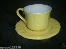 Vintage Lemon Yellow Federalist Ironstone Cup & saucer