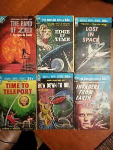 Science fiction 1960s double novels Hand of Zei, Time to Teleport, Lost in Space