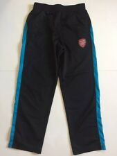 Mint Arsenal soccer Mens M 32-34 Black Blue Draw-string track sweats pants