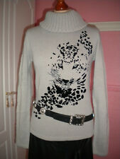 .PULL COL ROULE MARQUE CREATION MOTIF PANTHERE NEUF TAILLE 38/40