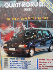 Quattroruote 471 1995 - Test Alfa 145 1.7 16V - VW Polo - Twingo Easy   [Q38]