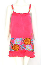 ED HARDY CHRISTIAN AUDIGIER SILK DRESS TUNIC S 8 10  PINK BABY DOLL