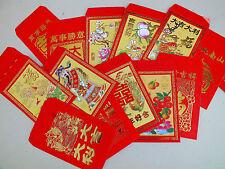10 CHINESE RED PARTY MONEY ENVELOPE WEDDING BIRTHDAY CHILDREN NEW YEAR PACKET
