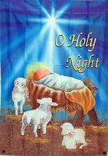 "WINTER CHRISTMAS GARDEN FLAG ""O HOLY NIGHT"""
