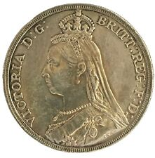 British 1889 Queen Victoria JubileeHead Silver Crown Very Nice You Grade