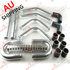 """2"""" INCH UNIVERSAL ALUMINUM TURBO INTERCOOLER PIPING KIT PIPES CLAMP COUPLER AU"""