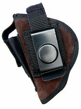 GENUINE SUEDE LEATHER USA-MADE CLIP-ON/BELT SLIDE HOLSTER - WALTHER TPH .22 .25