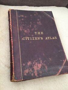 The Citizen's Atlas Of The World Ed. J.G.Bartholomew Maps Gazetteer Statistics