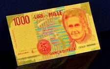 """★★ ITALIE / ITALIA / ITALY : BILLET POLYMER  """" OR """" DU 1000 LIRE ★★"""