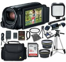 Canon VIXIA HF R80 Camcorder with Sandisk 32 GB SD Card + Extra Accessory Bundle