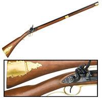 """Authentic 1700s Revolutionary War Kentucky Rifle 43.5"""" Version Non- Firing Gun"""